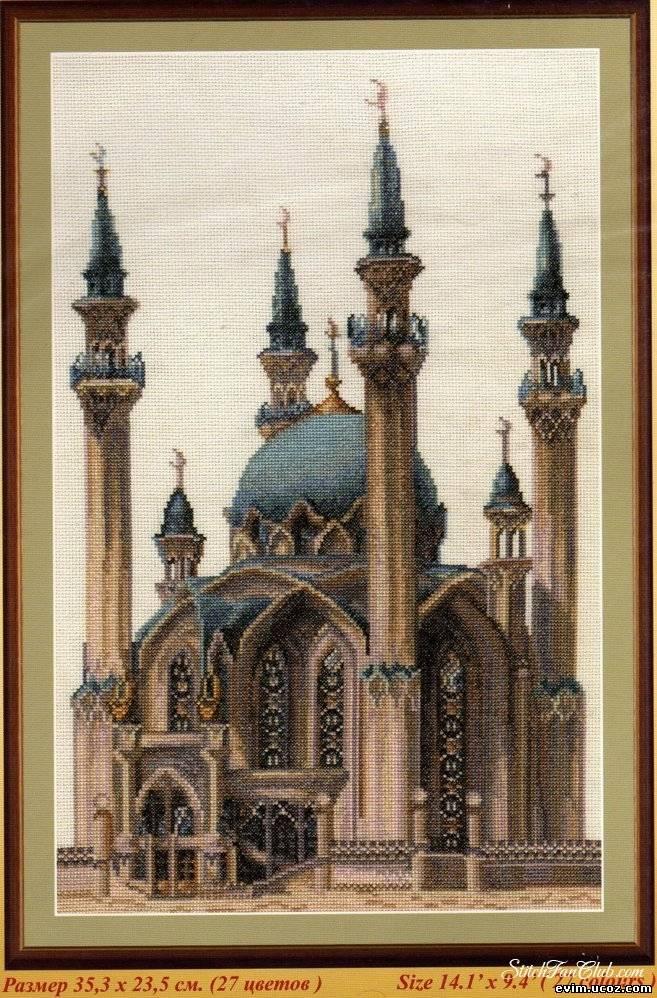Схем а вышивки мечети 665